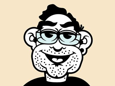 Quarantine Self Portrait glasses cartoon selfportrait illustration face