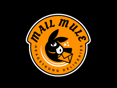 WIP, Mail Mule logo delivery mail donkey mule logo