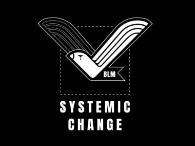 Systemic Change responsibility november 2020 vote check mark dove illustration fuck trump blm