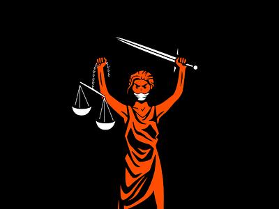 Loose the Blindfold racism speak up mask blindfold illustration blm lady justice justice