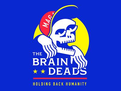 The Brain Deads artwork hat stupid politics maga trump logo skull zombie