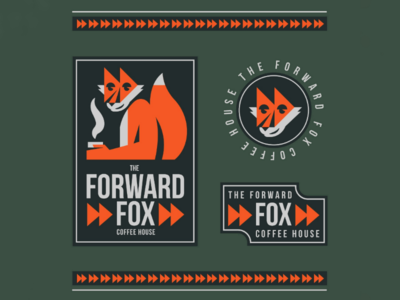 The Forward Fox illustration animal logo fox brand branding logo system logo forward fast forward