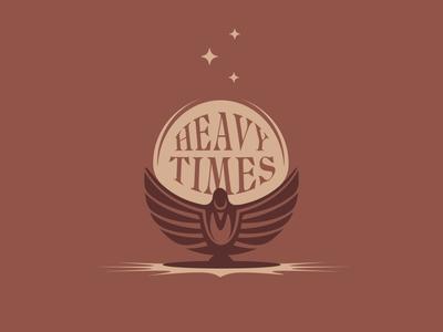 Heavy Times bird doodle vector typography illustration design