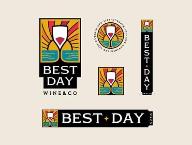 Best Day typography branding illustration