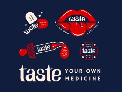 "More ""taste"" exploring medicine lettering custom type typography mouth lockups logo"