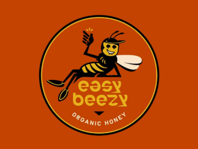 Easy Beezy 🐝 vector design process logosystem lockup logo lettering font typography bee