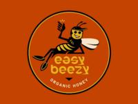 Easy Beezy 🐝 vector design process logosystem lockup logo lettering font typography bee
