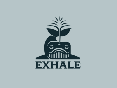 Exhale whale geometric design animal logotype illustration stream exhale whale