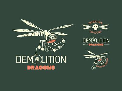 Dragonfly V2 branding design vector typography doodle bandana illustration lockups dragonfly