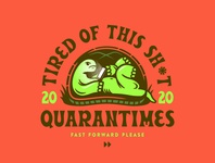 Quarantimes vector drawing artwork quarantine cartoon typography doodle design illustration turtle