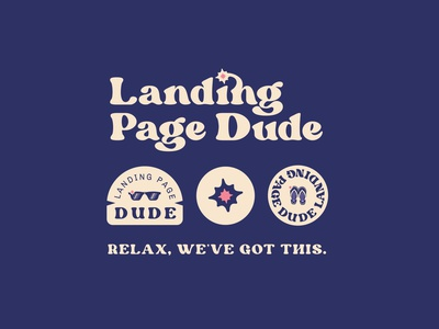 Landing page dude logo branding vector illustration the dude dude logotype logodesign spark typogaphy logo landing page