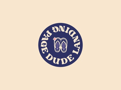 Landing page dude logo branding vector illustration the dude dude logotype logodesign spark typogaphy logo landing page