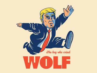 🐺!!! artwork cartoon vector drawing doodle design illustration trump wolf