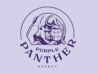 Purple Panther Agency logosystem lockups illustration illustrator logo purple panther