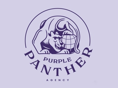 Purple Panther Agency logosystem lockups illustration illustrator logo purple panther