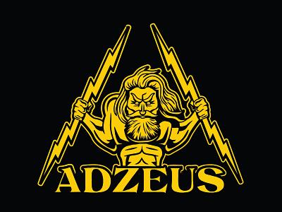 Adzeus logo first proposal design vector branding logosystem logo design logotype illustration lightning bolt zeus logo