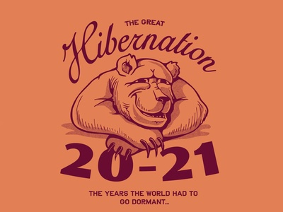 The Great Hibernation typography drawing doodle design handdraw illustration bear