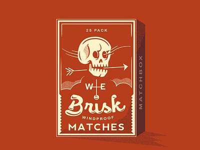 Weathervane matchbox skull artwork vector typography drawing doodle design illustration