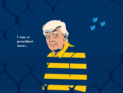 Old Inmate artwork drawing vector cartoon design doodle illustration trump