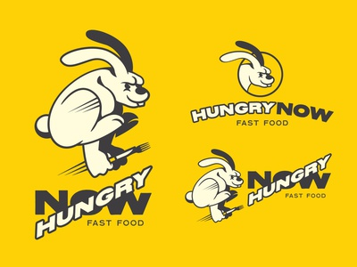 Hungry Now Colour Way and Mockup concept artwork branding cartoon vector typography doodle design logo illustration