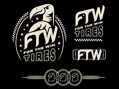 FTW Tires V2 doodle dribbble typography branding design illustration vector artwork wip logo concept exercise