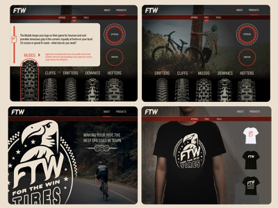 FTW Website Mockup artwork logo typography vector ux biking branding illustration web