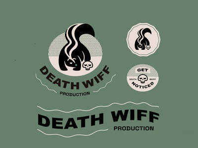 Death Wiff logosystem vector doodle typography illustration skunk concept design for fun