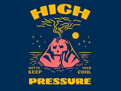 High Pressure 🌋 volcano skull concept illustration artwork vector drawing typography design doodle