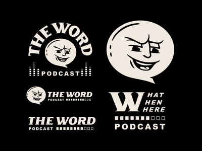 The Word vector concept design typography podcast illustration logo lettering