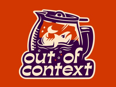 Out of Context vector drawing typography doodle design logo illustration