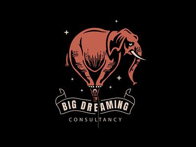 Balloon hot air balloon elephant drawing doodle design logo illustration
