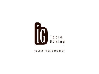 Big typography gluten free table logo big baking