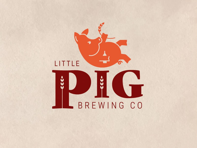Piggy Beer beer pig illustration idea logo concept