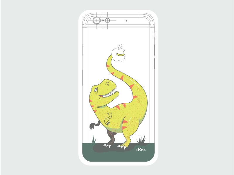 iRex dinosaurs apple t-rex phone customize iphone