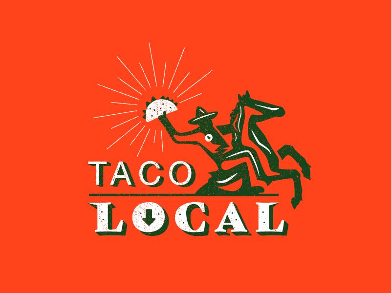 Taco Shop Logo silhouette logo local bandit horse tacotuesday taco