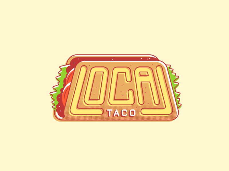 Taco Shop Logo 02 local illustration food truck logo food taco