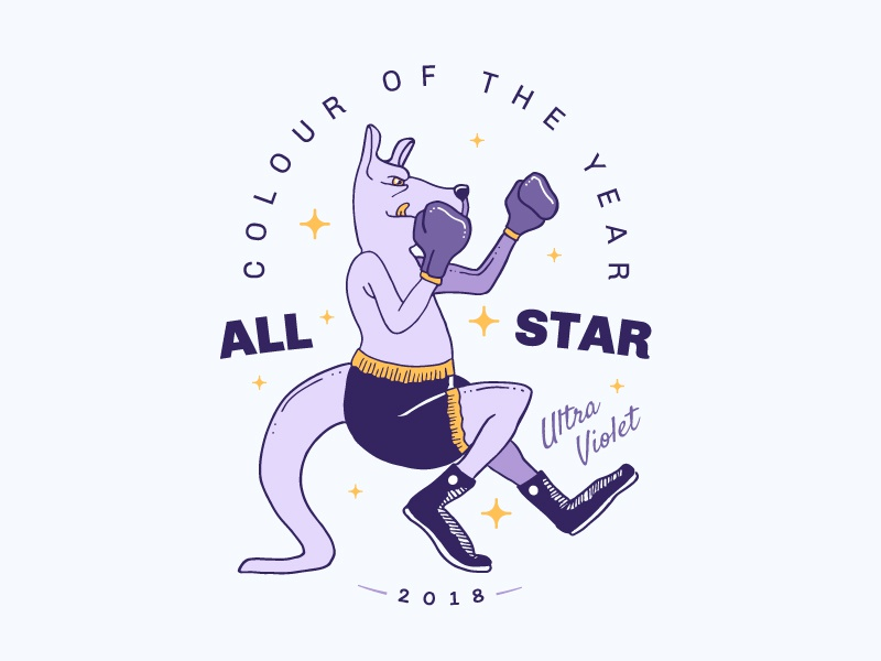All Star Colour Of The Year ultra violet coulour 2018 kangaroo boxing star all star pantone