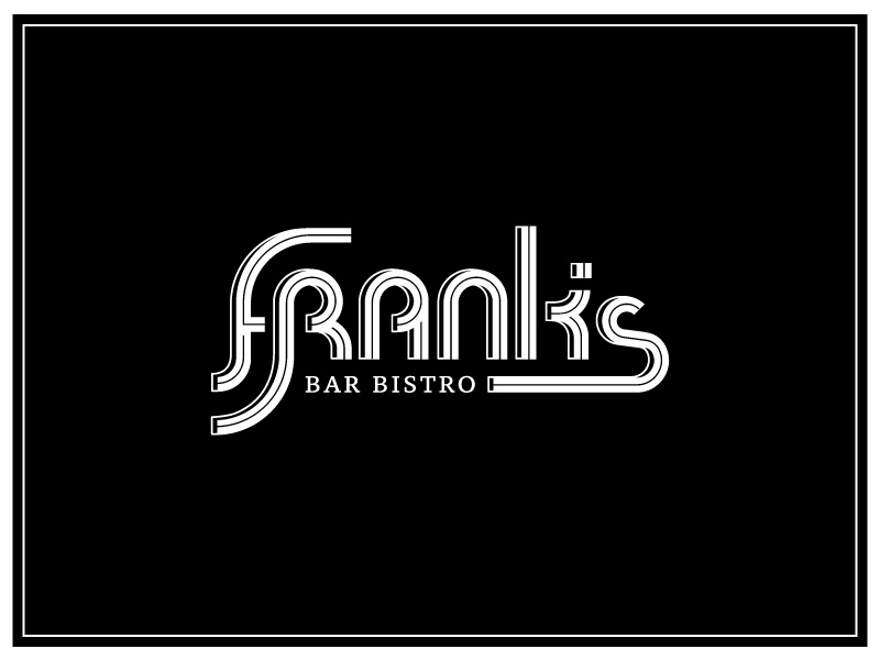 Frank's Logo logo bistro bar black and white