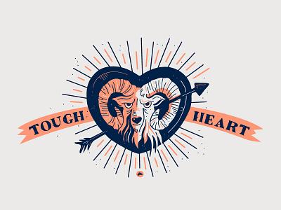 Tough Heart tough arrow heart horn horns ram illustration design