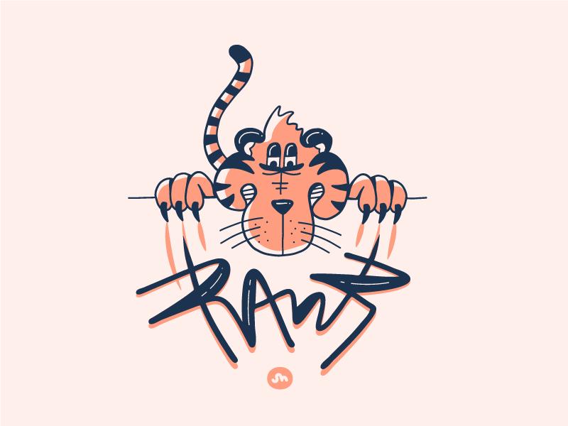 RAWR drawing doodle illustration design rawr tiger