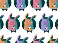 Rabbit polka dot