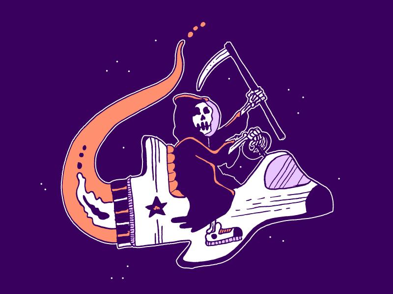 Reaping Stars skull reaper rocket ride ship space stars death