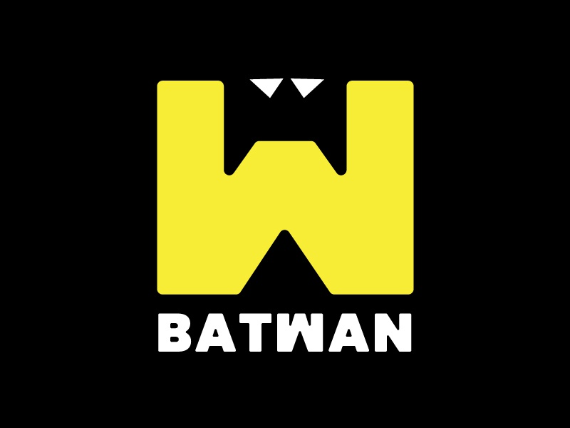 New Batwan Logo black yellow idea fun logo batman