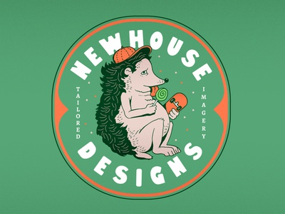 Hedgehog chubby lollipops skateboard newhousedesigns drawing design illustration hedgehog