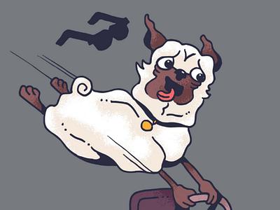 Go-Pug detail commission artwork graphic design illustration drawing pug