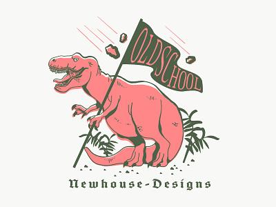 Old School doodle old school design dinosaur dino illustration t-rex rex