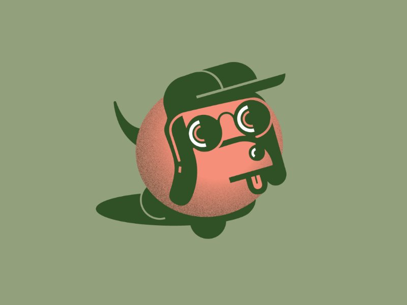 Too Cool for Drool graphic design artwork olive sunglasses cool dog illustration