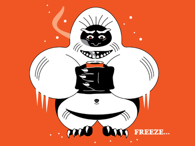 Freeze... inktober 2019 abominable snowman freeze