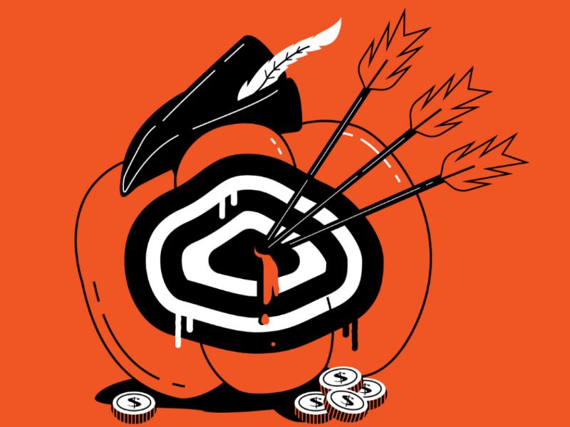 Legend... target arrows series illustration halloween robin hood pumpkin inktober 2019 inktober