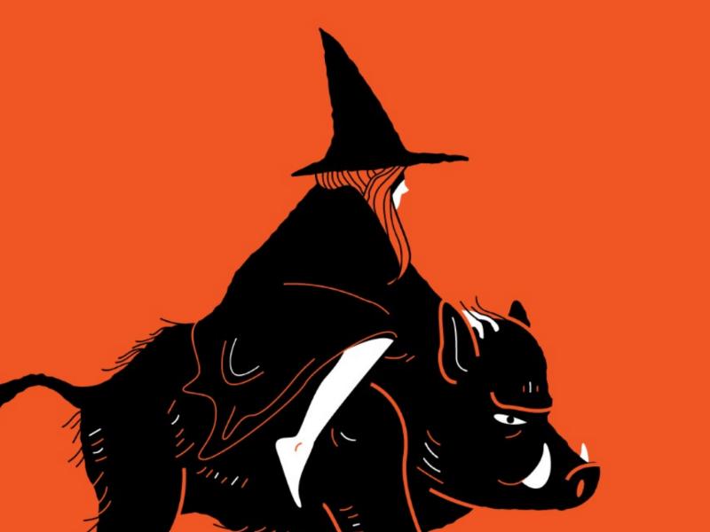 Wild... halloween witch pig boar illustration inktober 2019 wild inktober
